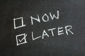 Procrastinare, quando dopo è meglio di ora.